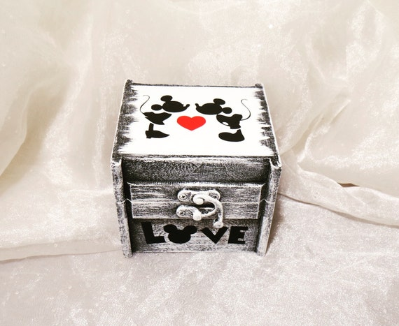 mickey and minnie mouse ring bearer ring box ring pillow