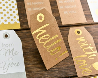 SALE! Set of 21 High Quality Printed Paper Tags in different designs.