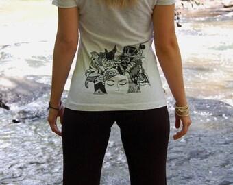"""Yoga Pants with Zentangle design """"Lotus"""""""