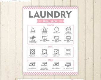 Guide To Laundry Poster Laundry Guide  Etsy