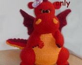 Dragon, amigurumi knitting pattern