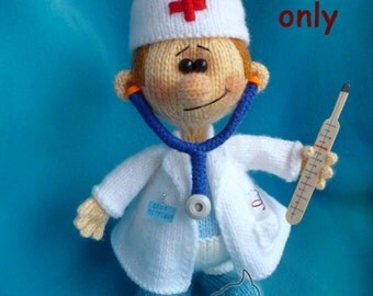 Doctor, amigurumi knitting pattern