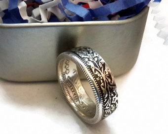 Swiss 2 Franc Coin Ring