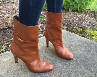 VINTAGE 1970s Leather Boot