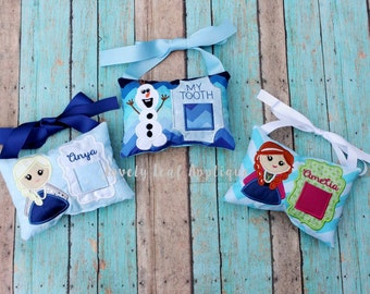 DESIGN SET: Ice Princess Inspired Tooth Fairy Pillow ITH Embroidery Designs 5x7 Hoop