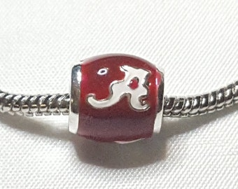 College Spacer / Charm -Alabama Crimson Tide Football Charm--Awesome Charm-Fits all Designer and European Charm Bracelets*