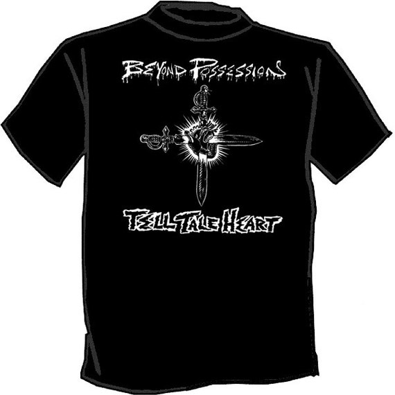 Beyond possession silk screened t shirt punk skate rock for Silk screen t shirt