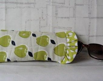 SALE Quilted Sunglass Pouch - Eyeglass Pouch - Sunglass Case - Eyeglass Case
