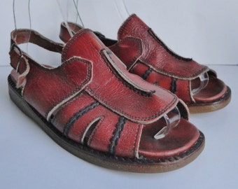 70s Vintage Sandals // Brown // Size EU 38