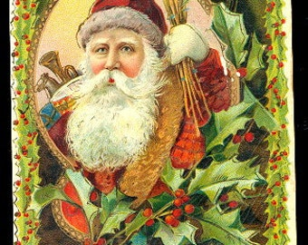 Santa Claus/Father Christmas 1906 Postcard