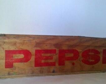 Genuine Vintage 1970's Pepsi Crate, Storage, Shelf.
