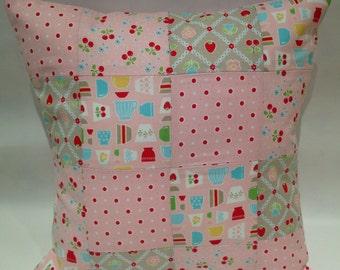 Baking patchwork cushion, baking cushion, sale, baking pillow, cherry cushion, kitchen cushion, cooking pillow, patchwork pillow