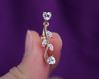 belly ring - belly button ring - belly piercing - belly jewelry - belly stud - belly ring gold - belly ring 14g - simple base modern