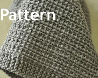 Washcloth / Dishcloth Knitting Pattern - Window Screen