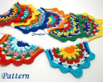 Crochet garland pattern, Tutorial pattern, Gypsy Crochet Banner, crochet motif pattern, gypsy garland, DIY pattern, Instant Download (5018)