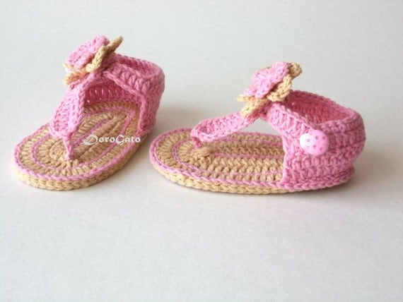 Free Printable Crochet Patterns For Baby Sandals : Crochet Baby Sandals Pattern, Tutorial crochet slippers ...
