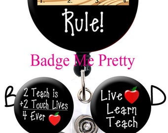 Retractable Badge Reel - Teacher Badge Holder- Best Teacher Reel- ID Badge Holder