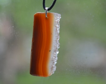 Druzy Agate Slice Pendant