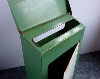 vintage french mail box, post box, letter box