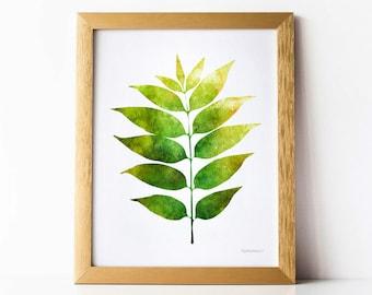 living room art prints. Green leaf DIGITAL DOWNLOAD art print  Nature Botanical Digital wall Living room Etsy