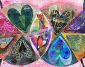 Heart Art, Mixed Media Co...