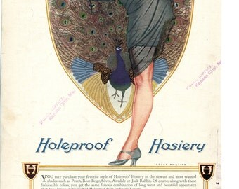 Vintage Vogue ads for fashion & perfumes / Holeproof Hosiery, Coles Phillips illustration - PD002147