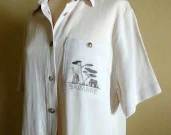 Saharan style, woman shirt