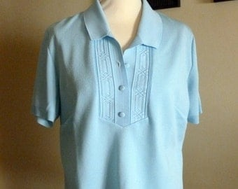WOMAN BLUE POLO
