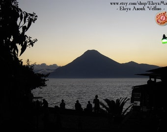 Volcano Twilight - Photography - Atitlan Lake, Guatemala