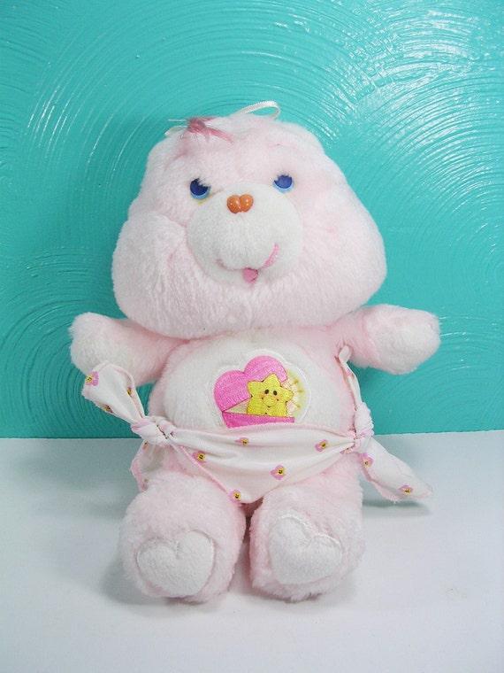 Vintage 1983 Baby Tugs Care Bear Plush Small Stuffed Bear