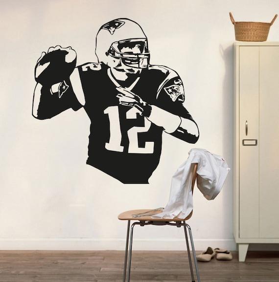 New England Patriots Tom Brady Wall Decal Art Decor Sticker