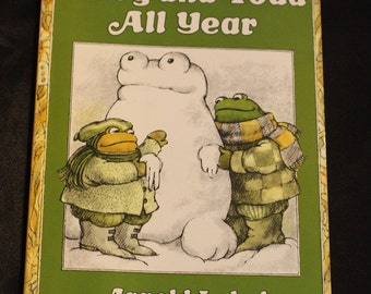 Vintage Children's Book   - Frog and Toad All Year by Arnold Lobel 1976