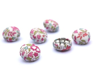 Fabric covered buttons Liberty of London sewing buttons 12mm set of 6.