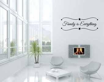 Wall Decal Quote Family Is Everything Decals Wall Decal Quotes Home Decor Vinyl Quotes Designs Family Wall Art (GD9)