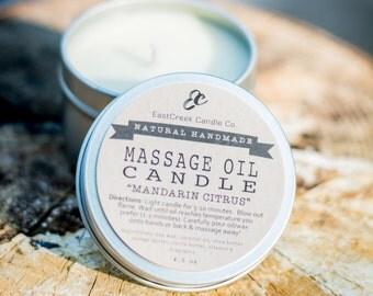 Massage Oil Candle, Lotion Candle, Massage Oil Candle Tin, Massage Candle, Candle Lotion, Natural Massage Oil, Atlanta, Ga