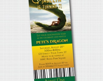 Pete's Dragon Birthday Invitation | Movie Birthday | {Digital File}