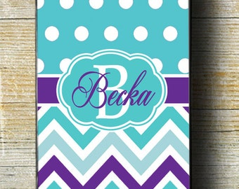 Teal iPhone 6s Case, Monogram iPhone 6 Plus case, Purple and Teal Chevron iPhone, Polka Dots iPhone 5, Monogram iPhone 5c Case