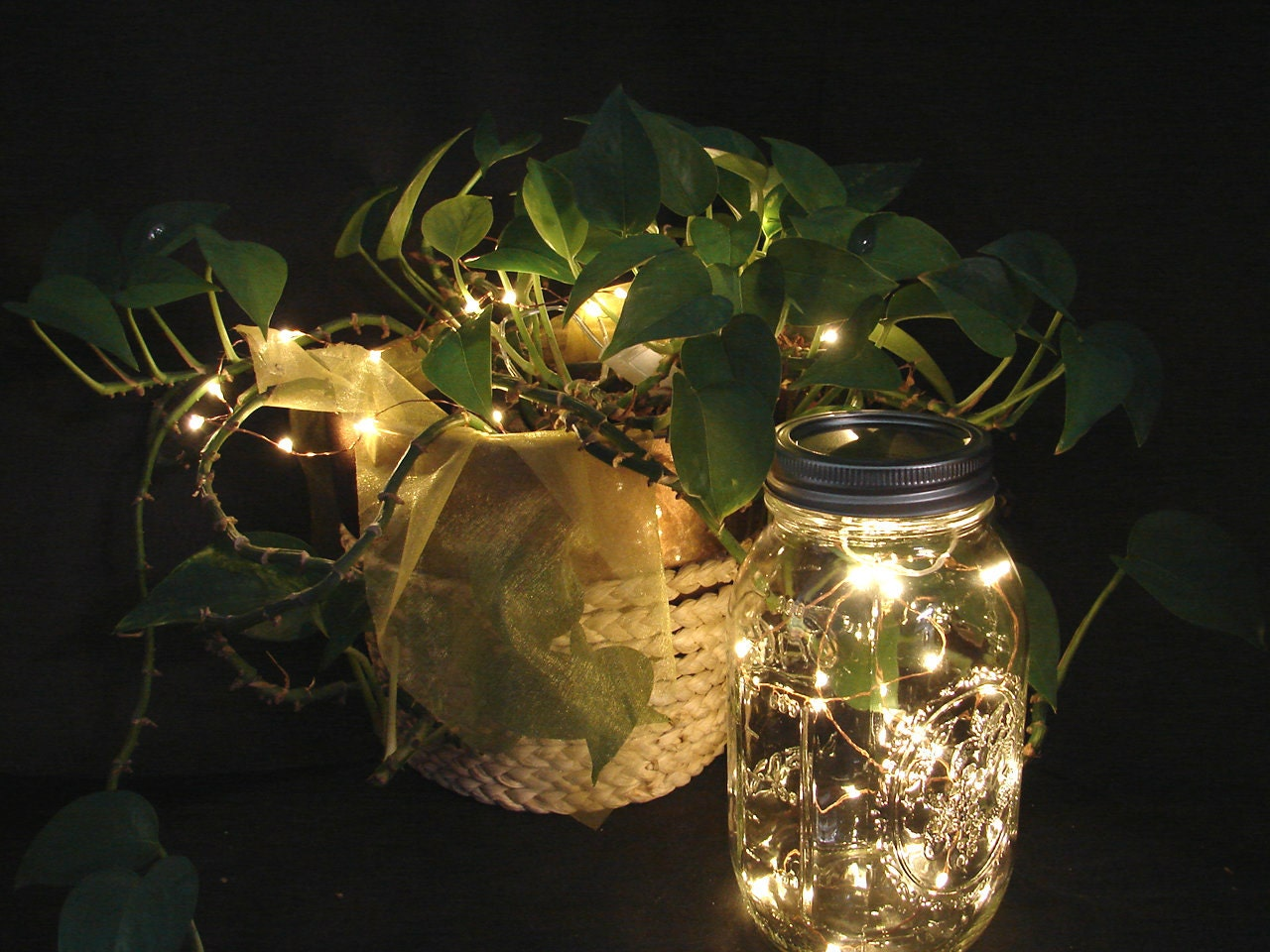 Value pack fairy lights for mason jars and centerpieces with