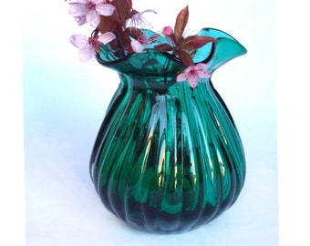 Blenko Aqua Glass Vase