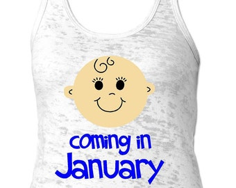 Baby Due Tank Top   Mom To Be   Expecting Date   Soft Tank Top   Baby Due   Coming Soon  