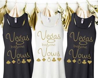 Vegas Before Vows Tank Tops - Vegas Before Vows Bachelorette Tanks - Vegas Bachelorette Party Tank Tops - Vegas Bachelorette Tanks