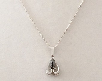Sterling Silver And Hematite Necklace 20""