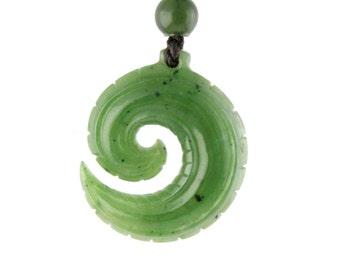 Canadian Nephrite Jade Pendant, 3578