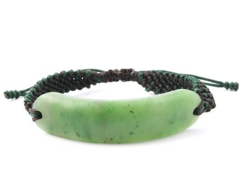 Canadian Nephrite Jade Bracelet Matte Finish, 1833-4