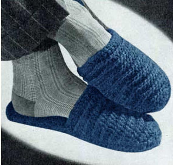 Crochet Men Slippers Pattern Crochet Men Pattern Vintage 60s