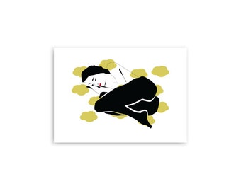 Art Print, Woman Illustration, Minimalist art Print,  Inspirational art, Wall art,  Scandinavian design, Wall art, Minimal Poster