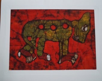 Batik Card of a Mayan Dog