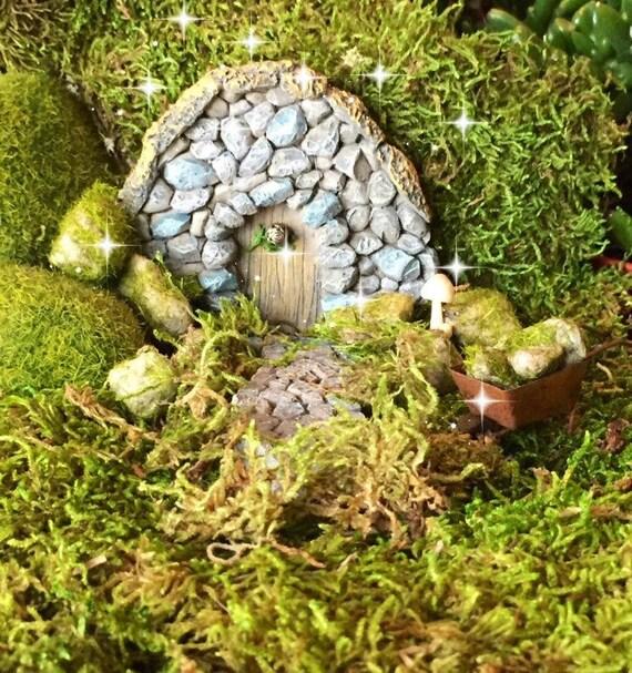 fairy garden kit gnome door hobbit door troll door stone