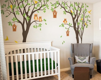 Removable sticker Baby Nursery Tree Wall Decal  Nursery Decor Large Tree Mural Color Vinyl Tree Wall Sticker - NT035