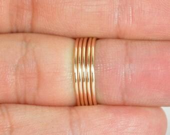 Thin Round Bronze Stacking Ring(s), Gold Bronze Ring, Bronze Stacking Ring, Bronze Jewelry, Bronze Ring, Dainty Bronze Ring, boho Ring